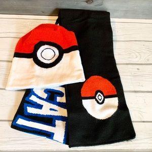 Pokémon beanie hat and scarf gotta catch em all